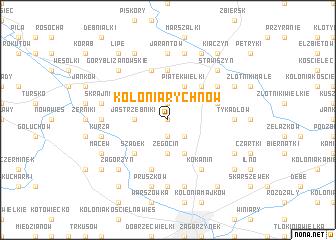 map of Kolonia Rychnów