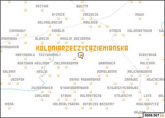 map of Kolonia Rzeczyca Ziemiańska
