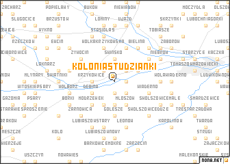 map of Kolonia Studzianki