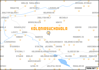 map of Kolonia Suchowola