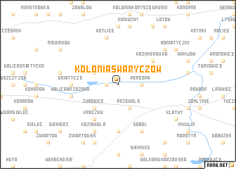 map of Kolonia Swaryczów