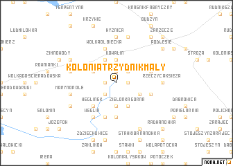 map of Kolonia Trzydnik Mały