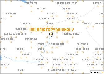 map of Kolonia Trzydnik Mały