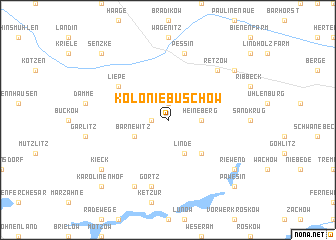map of Kolonie Buschow