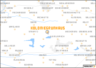 map of Kolonie Grünhaus