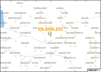 map of Kolonie Lenz