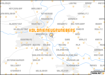 map of Kolonie Neu Grüneberg
