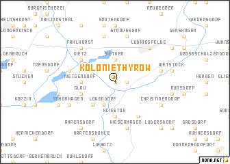 map of Kolonie Thyrow