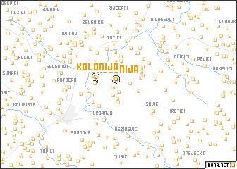 map of Kolonija
