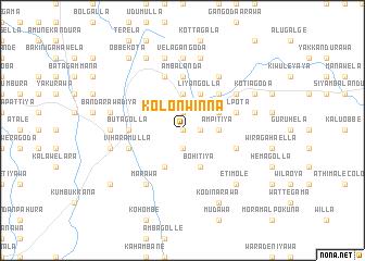 map of Kolonwinna