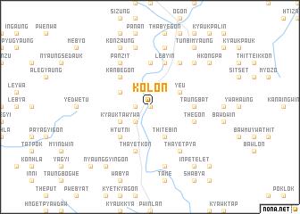 map of Kolon