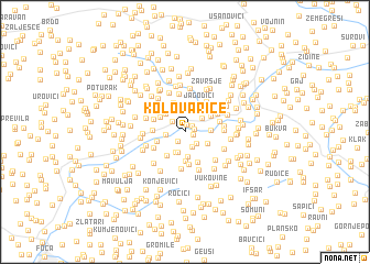 map of Kolovarice