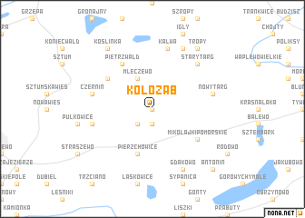 map of Kołoząb