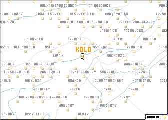 map of Koło