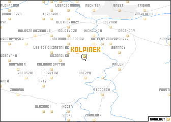map of Kołpinek