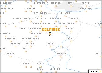 map of Kołpinek