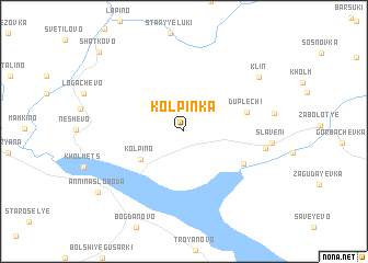 map of Kolpinka