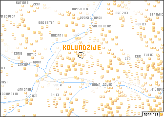 map of Kolundžije