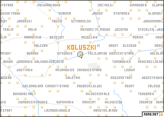 map of Koluszki