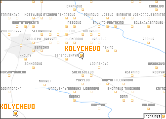 map of Kolychëvo