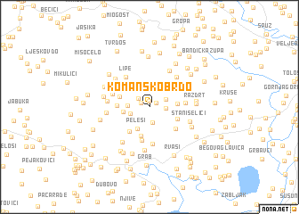 map of Komansko Brdo