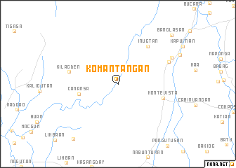 map of Komantangan
