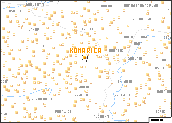 map of Komarica