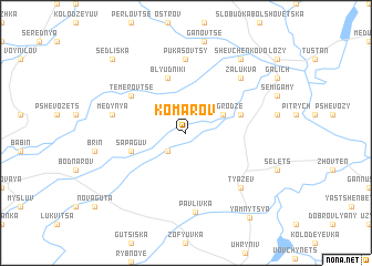 map of Komarov