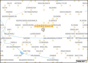 map of Komarówka