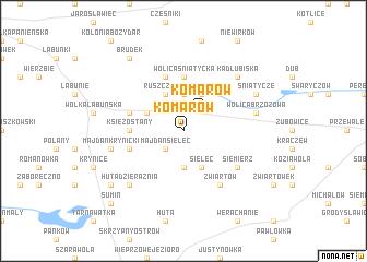 map of Komarów