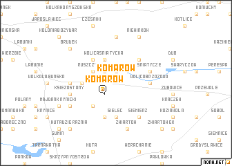 map of Komarów