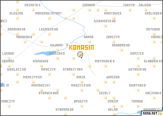map of Komasin