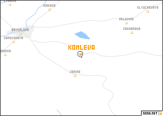 map of Komleva