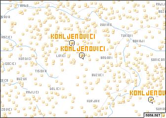 map of Komljenovići