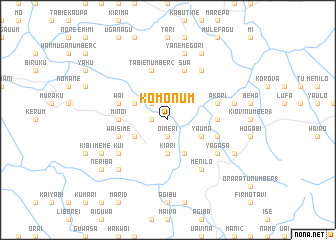 map of Komonum