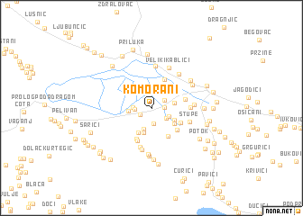 map of Komorani