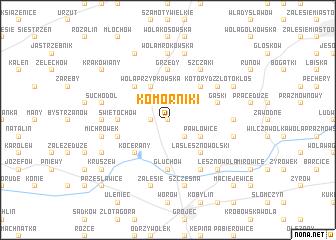 map of Komorniki