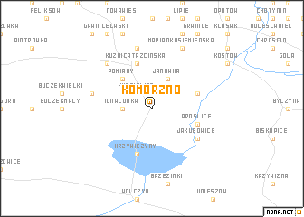map of Komorzno