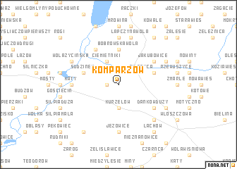 map of Komparzów