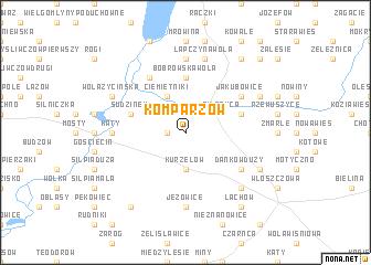 map of Komparzów