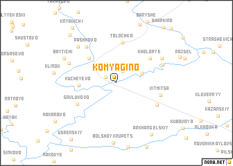 map of Komyagino