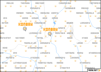 map of Konbaw