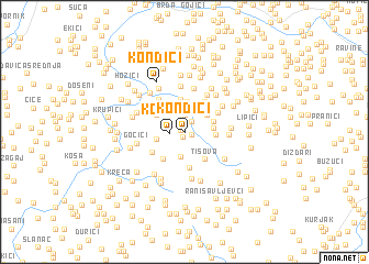 map of Kondići