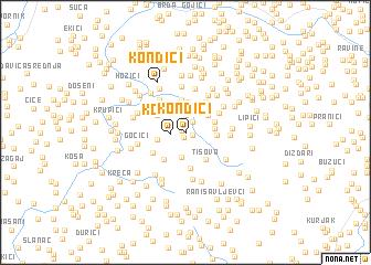 map of Kondići