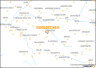 map of Kondorcheh