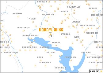 map of Kondylaíïka