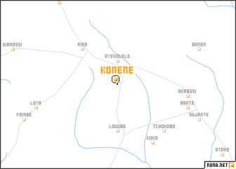 map of Konéné