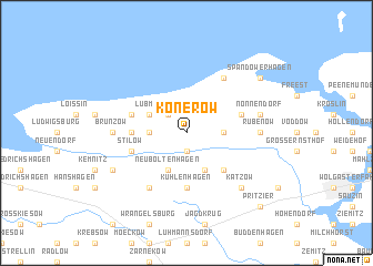 map of Konerow