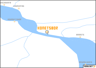 map of Konetsbor