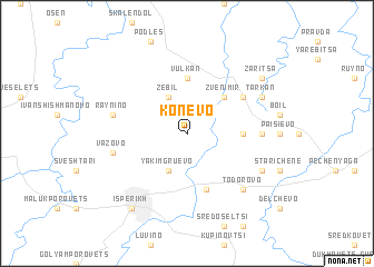map of Konevo